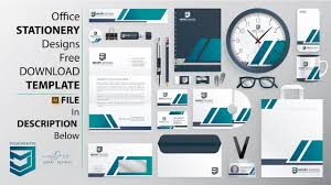 Office Stationery Design Templates Free Office Stationery Designs Template Download