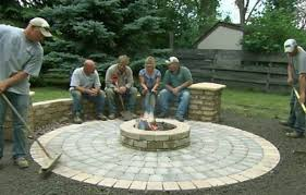 Diy patio with fire pit Square This Old House How To Build Round Patio With Fire Pit This Old House