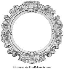 silver frame round by vintage filigree png
