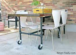 if you decide not to put your table on casters you ll need to compensate the height of your pipes or wver you opt for table feet approx 5 inches