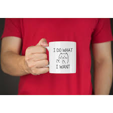 office gifts for dad. Amazon.com: I Do What Want Funny Coffee Mug Cat Middle Finger 11 Oz - Birthday Gift For Men \u0026 Women, Him Or Her Best Office Cup Christmas Present Idea Gifts Dad O