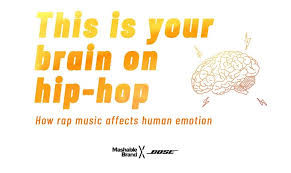 "a new essy points to science proving hip hop helps the brain much of the efficacy of hip hop therapy is attributed to ""positive visual imagery"" in rap lyrics exemplified by songs ""that detail people who rise from the"