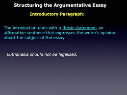 the persuasive essay 14 structuring the argumentative essay introductory paragraph the introduction