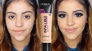 review demo l oreal infallible total cover foundation bination skin you l oreal paris