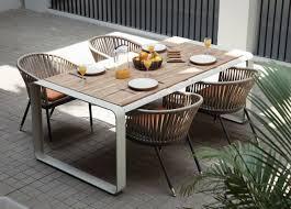 skin outdoor aluminium table lebello