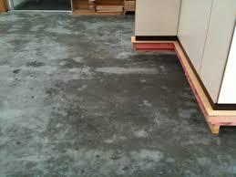 sweating concrete slab