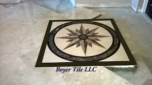 residential tile flooring marble inlay above mub pack