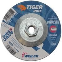 "5"" x 1/4"" TIGER <b>INOX</b> Type 27 Grinding Wheel, INOX24R, <b>5/8</b>""-11 ..."