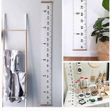 Wall Ruler Height Chart 190cm Wood Canvas Ruler Height Chart Child Growth Wall
