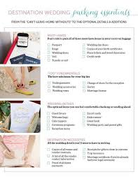 what you need for a wedding checklist the only destination wedding packing list you need mywedding