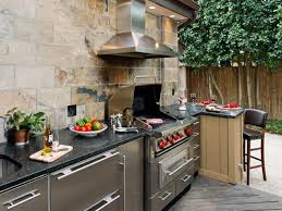 Outdoor Kitchen Refrigerator Endearing Outdoor Kitchen Picture Aweasome Gray Brick Stone