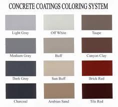Concrete Stain Chart Decorative Concrete Color Charts Sealant Depot Resources