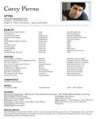 Acting Resume Beginner Professional Acting Resume Template Commily Com Cover Letter