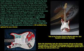 monterey pop strat cheap strat guitar for replica specs a great guitar player in his own right it s interesting that he now gets billed hendrix on this very