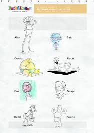 Descriptive Adjectives.Body | Picture dictionary | Rockalingua ...