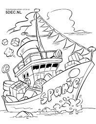 Sinterklaas Knutselen Sinterklaas Kleurplaten Pakjesboot 12
