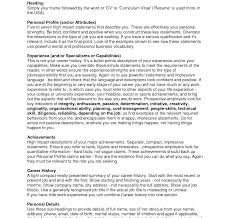 Resume Impact Statement Examples How To Write Personal Statement For Job Application Career Resume 17