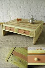 creative wooden furniture. Ideas , DIY Wood Pallet \u2013 20 Creative Furniture Idea : Coffee Table . Wooden 2