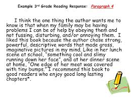 teaching response to literature rd grade <br > 23