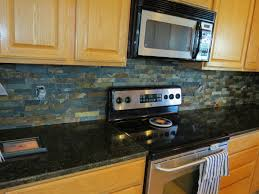 Slate Kitchen Backsplash Kitchen Kitchen Backsplash Ideas Black Granite Countertops Bar