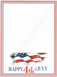 4th of july letterhead 4th of july stationary v1