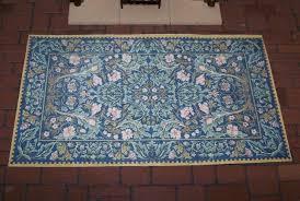 dolls house hearth rug william morris design folksy
