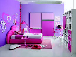 inspirational decorations for cute purple bedroom ideas with pink platform bed with love headboard as well as custom wardrobe and purple rugs in custom