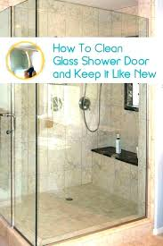 how to clean water spots best way to clean glass shower doors with hard water stains