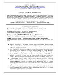 Salesforce Experienced Resumes Salesforce Developer Resume Hirnsturm Me