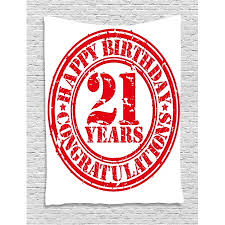 Congratulation Party Decorations 21st Birthday Decorations Tapestry Logo Icon Vintage Happy Birthday
