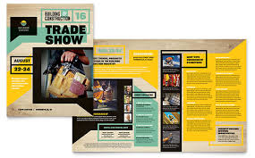 Pamplet Templates Builders Trade Show Brochure Template Design