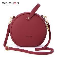 hot circular design fashion women shoulder bag leather women s cross messenger bags las purse female round