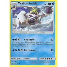 Pokemon Trading Card Game POKEMON SUN & MOON: CRABOMINABLE - 43/149 RARE  CARD - Trading Card Games from Hills Cards UK