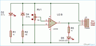 automatic room light controller bidirectional or counter ir sensor circuit