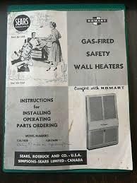 vintage sears homart gas fired safety