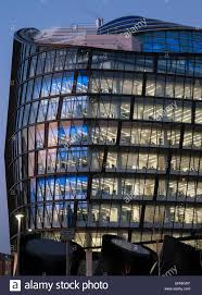 contemporary office building. Contemporary Office Building At Dusk With Coloured Lights In Windows R