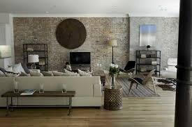brick living room ideas contemporary