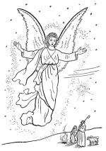 christmas bible   the christmas story  coloring pages   bible    christmas angel coloring page
