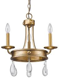 krista antique gold crystal pendant light