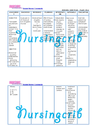 Nursing Care Plan For Peptic Ulcer Ncp Docshare Tips