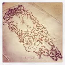 Image Vector Image Ornate Victorian Handheld Mirror Tattoo With Asking Alexandria Lyrics shes Such Fucking Masterpiece Pinterest Ornate Victorian Handheld Mirror Tattoo With Asking Alexandria