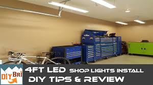 Led Vs T8 Shop Light Installing Led Shop Light Easy How To Instructions 4ft Led Shop Lights