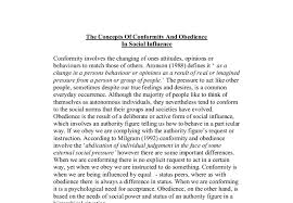 the concepts of conformity and obedience a level psychology  document image preview