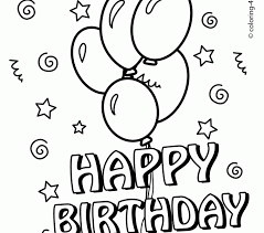 Small Picture Happy Birthday Coloring Page Best Coloring Pages