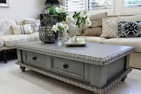 amazing painted coffee table idea painting grey for regarding unique chalk paint with drawer glass top uk and end annie sloan set