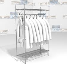 Lab Coat Rack Storing Hanging Garments Lab Coats SMS100GR100C Wire Shelving 100 13