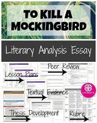 To Kill a Mockingbird Essay Unit for Literary Analysis Writing ...