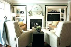 small narrow living room layout bay window with fireplace and fireplac