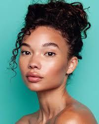 natural dewy makeup for dark skin