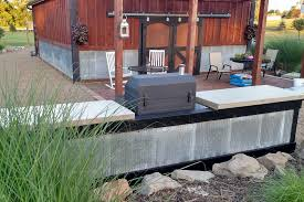 Outdoor Canning Kitchen Creating An Inexpensive Outdoor Kitchen With Concrete Countertops